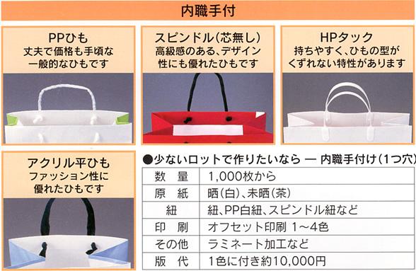 オリジナルバックをつくりませんか内職手付,紙加工品,キング印紙製品,坂田紙工