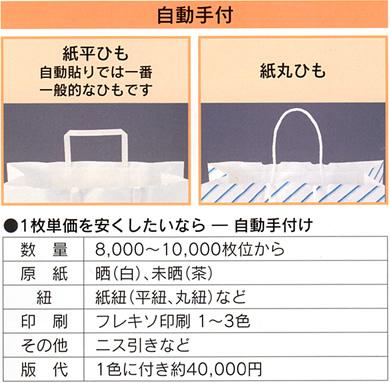 オリジナルバックをつくりませんか自動手付,紙加工品,キング印紙製品,坂田紙工