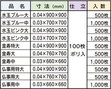 ポリ風呂敷,梱包資材・化成品,キング印紙製品,坂田紙工